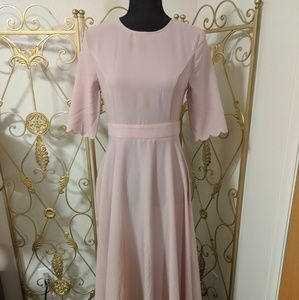 SheIn floor length evening dress dusty blush
